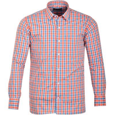 Blue-Red Cottonking Formal Shirt_32241