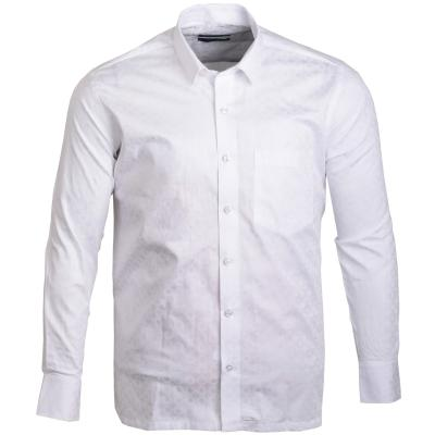 Printed White Formal cotton Shirt_32991